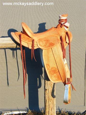 4 X 4 >> McKay Custom Saddlery Homestead Wade Buckaroo Saddles